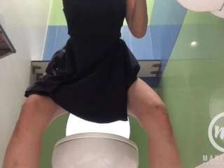 Japanese Teen Urinates in A Public Toilet