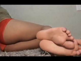 Sexy feet Joi girl on floor (POV)
