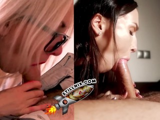 Blowjob vs Handjob – Lilu Moon vs Alena LamLam – PVM #1