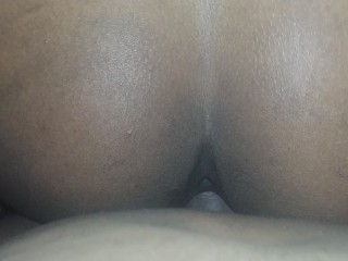 GETTING FUCKED DOGGY-STYLE AND LEAVING A CREAMY MESSY ON DADDY BLACK COCK
