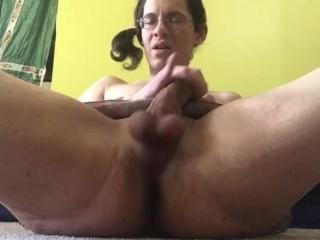 Shemale Pornstar Alhena Adams Jerking Her Big Cock Exclusively For Pornhub